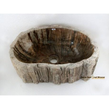 Petrified Wood Sink Brown