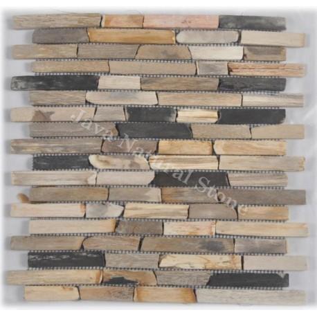 Slim Bricks Petrified Wood