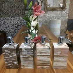 Soap Dispenser Petrified Wood