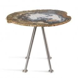 Stool and Table Petrified Wood