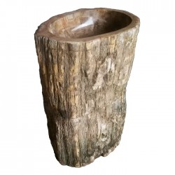 PETRIFIED WOOD PEDESTAL SINK